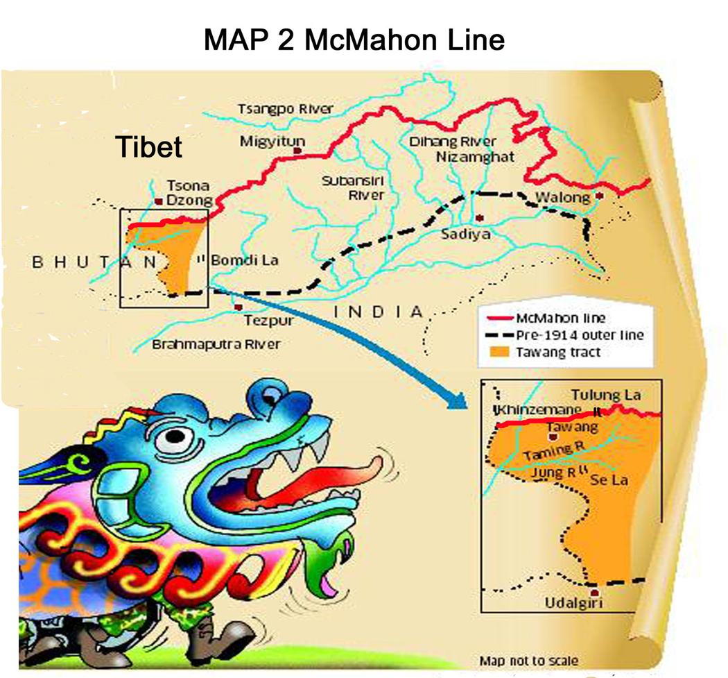 MAP 2. McMahone Line