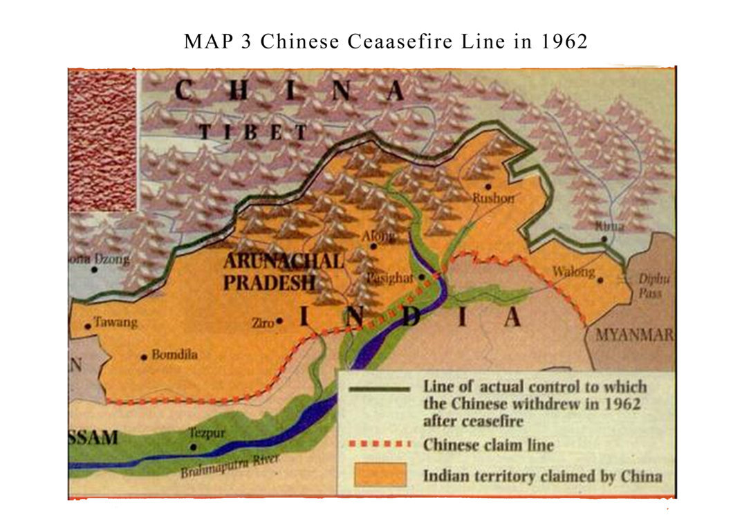Chinese Ceasefire Line, Map 3