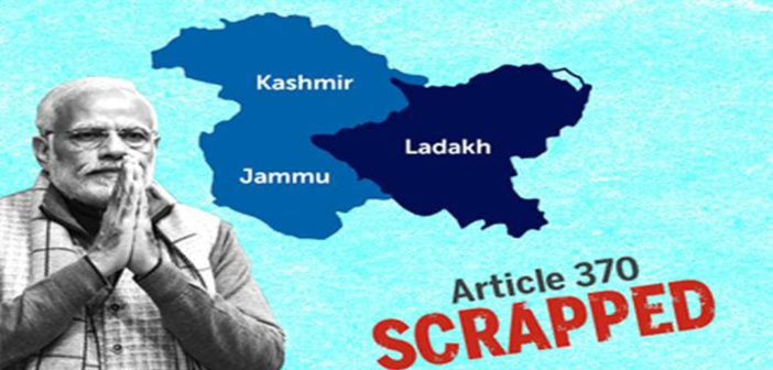 Kashmir: Removal of Artificial Barriers in India's Unity
